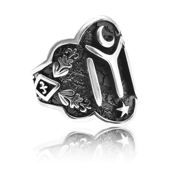 Dirilis Ertugrul KAYI IYI Zihgir Ring 925 Sterling SILVER Men's Thumb Ring